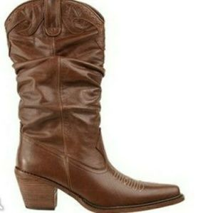 Steve Madden Spurs Brown Distress Cowboy Boots 6